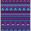 Ethnic various strips motifs in violet colors background — Stock Photo