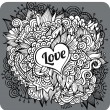Vintage hand drawn vector Love theme greeting card — Stock Vector #36664131