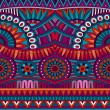 Abstract vector tribal ethnic background seamless pattern — Stockvektor