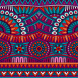 Abstract vector tribal ethnic background seamless pattern — ストックベクタ