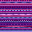 Ethnic vector various strips motifs in different color. Seamless pattern — Stock Vector