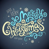 Christmas Greeting Card. Merry Christmas vector lettering — ストックベクタ