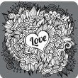 Vintage hand drawn vector Love theme greeting card — Stock Vector #38140335