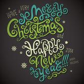 Christmas gratulationskort — Stockvektor