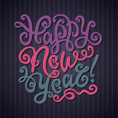 幸せな新年のグリーティング カード. — ストックベクタ