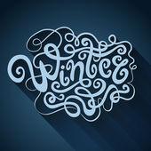 Inverno mão letras - caligrafia artesanal — Vetor de Stock