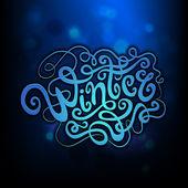 Winter hand lettering - handmade calligraphy — Cтоковый вектор