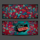 Abstract vector decorative floral ornamental backgrounds — 图库矢量图片