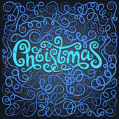 Merry Christmas decorative hand drawn lettering — Vetorial Stock
