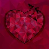 Vector geometric heart — Stock Vector