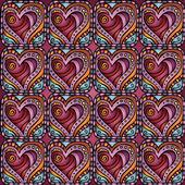 Amor y sentimiento de patrones sin fisuras tema — Vector de stock