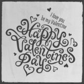 Vintage Happy Valentine's day — Stock Vector
