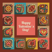 Happy Valentine's Day greeting card design. — Stock Vector