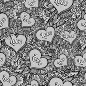 Patrón floral transparente romántico — Vector de stock