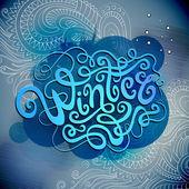 Winter hand lettering — Stock vektor