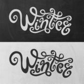 Winter hand lettering — Stock Vector