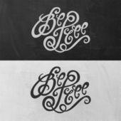 Be Free hand lettering — Διανυσματικό Αρχείο