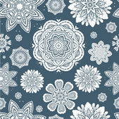 Floral snowflakes pattern — Wektor stockowy