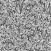 Decorative floral ornamental seamless pattern — Vector de stock