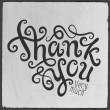 Stock Vector: Thank You hand lettering