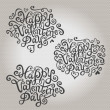 Valentine's Day hand lettering — Stock Vector #40480555