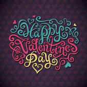 Valentine's Day hand lettering — Vettoriale Stock