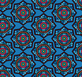 Floral snowflakes pattern — ストックベクタ