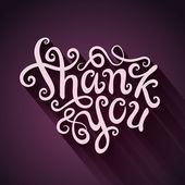 Děkuji vám ruku, nápisy — Stock vektor