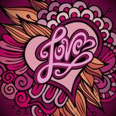 любовь руку буквами — Cтоковый вектор