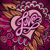 Love hand lettering — Stock Vector