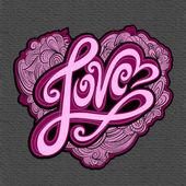 älska hand bokstäver — Stockvektor
