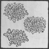 Valentine's Day hand lettering — Stok Vektör