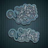 Letras de mano del invierno — Vector de stock