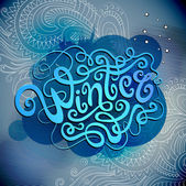 Winter hand lettering — Stockvector