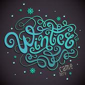 Winter Hand Schriftzug — Stockvektor