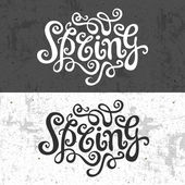 Spring hand lettering — Wektor stockowy