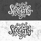 Spring hand lettering — Vetorial Stock