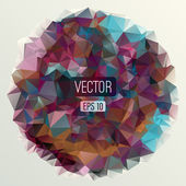 Abstract round triangles background — Vecteur