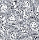 Spiral dekoratif karalamalar seamless modeli — Stok Vektör