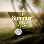 Mensagem gráfica criativa para seu projeto de verão — Vetor de Stock