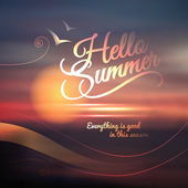 Creative graphic message for your summer design — Stock Vector