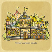 Cartoon fairy-tale castle — Stock Vector