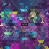 Abstract triangles background for design — Stock Vector