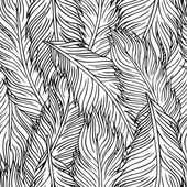 Hand-drawn feathers — Stock Vector
