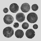 Watercolor circle shape design elements — Stock Vector