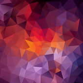 Abstract triangles background for design — Stockvector