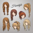 Different cartoon hairstyles — Stock Vector #47451355