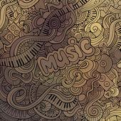 Vector doodles musical background — Stock Vector