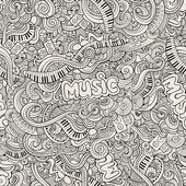 Music Sketchy Doodles. Hand-Drawn Vector Illustration — Stock Vector