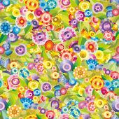 Patrón floral vector doodle inconsútil — Vector de stock